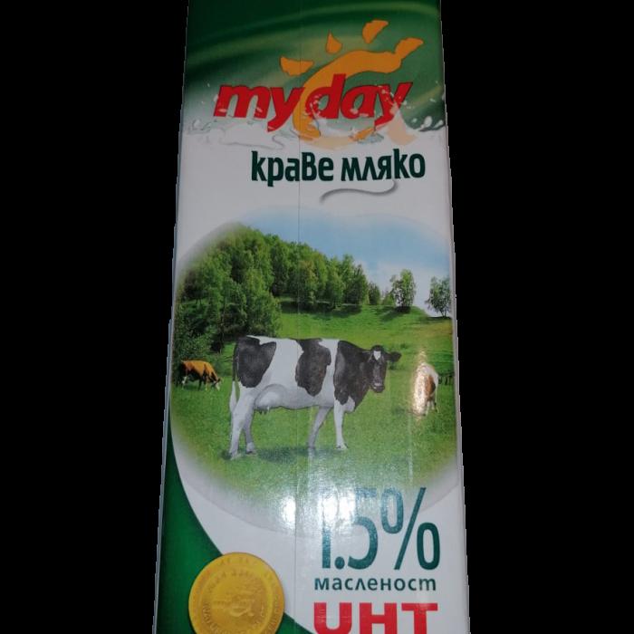 MY DAY КРАВЕ МЛЯКО,1,5 % 1Л
