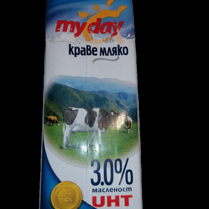 MY DAY КРАВЕ МЛЯКО 3,0% 1 Л