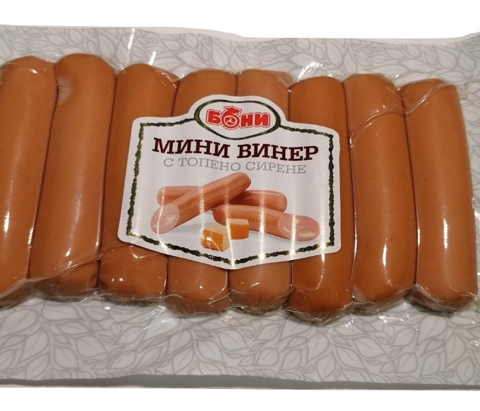 МИНИ ВИНЕР С ТОПЕНО СИРЕНЕ -200 ГР